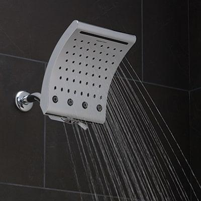 Oxygenics® Waterfall Curve Showerhead